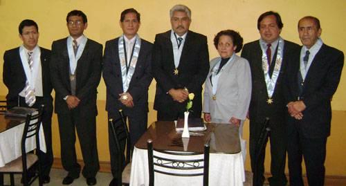 Flamantes Presidente y Vicepresidente Reelegidos Roger Rojas y Emiliano Vargas Florecín-Comité Electoral