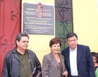 Placa de la carretera Huaral Irrigacion la Esperanza Santa Rosa