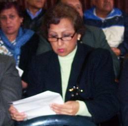 Regidora del distrito de Chancay, Gina Perez