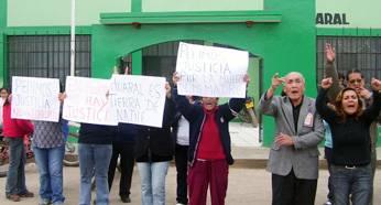 Familiares y amigos en protesta  pedian justicia