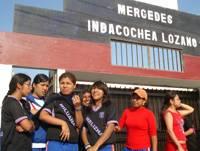 Estudiantes de la I.E Mercedes Indacochea.