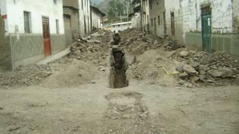Obras de desagüe en el distrito de Pacaraos