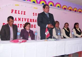 En ceremonia el alcalde Ándres Doroteo y demás autoridades.