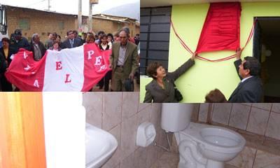 Recorrido de la bandera nacional, develacion de la placa recordatoria, consejera Nelly Tang y el alcalde Ándres Doroteo, y la infraestructura del hosta que cuenta con agua y desagüe.