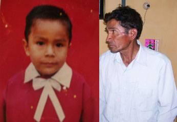 Deyvis Villarreal Yanac y su abuelito David Villarreal