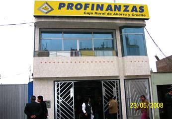 Instalacones de la Caja Rural de Ahorro y Crédito - Profinanzas.