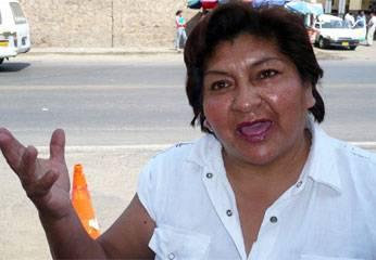 Dirigente de Confianza Perú, Delia Arias.