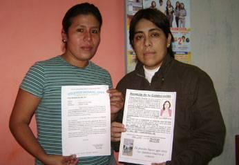Roxanne Aparicio Félix  y Noelia Baca Oyola