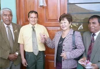 Alcalde de Huaral, la consejera regional por Huaral Nelly Tang y el alcalde de Acos.