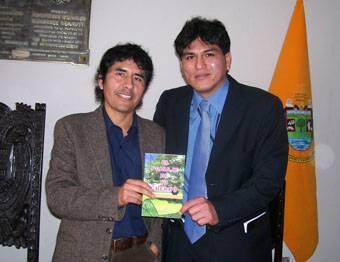 Julián Rodríguez y Jhony Agüero Director del periódico el Reportero