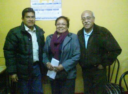 Integrantes Comite Electoral Cesar Ochoa, Gladis Carrillo y Moisés Reyes (Magu)
