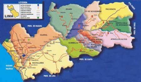 Ubicación geográfica de la provincia de Huaral