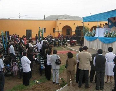 Huando inicia festividad en honor a su Santa Patrona Inmaculada Concepción.
