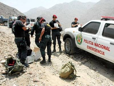 rescate de mineros sepultados en Huarochirí