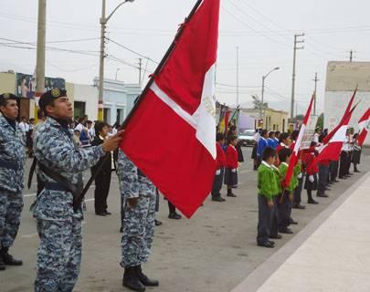 Mañana desfile cívico escolar por fiestas patrias en Aucallama.