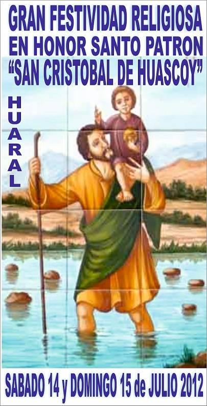 """Gran festividad religiosa en honor al santo patrón """"San Cristóbal de Huascoy"""""""