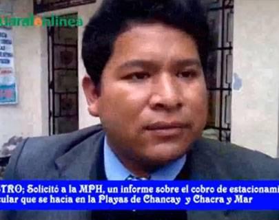 "Ernesto Castro: ""Poder Judicial ordenó que M.P.H. entregue información si hay autorización de cobrar parqueo en playas""."