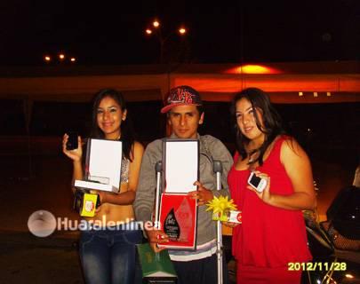 """Ganadores del I Concurso de Canto y Baile para Jóvenes """"Descubriendo Talentos- Aucallama 2012"""""""