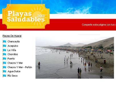 Huaral provincia con la mayor cantidad de playas saludables en la Región  según el Senamhi y la Digesa.