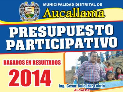 Presupuesto Participativo 2014 Aucallama