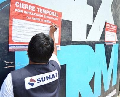 Sunat cierra 31 establecimientos por no entregar comprobantes de pago en Huaral