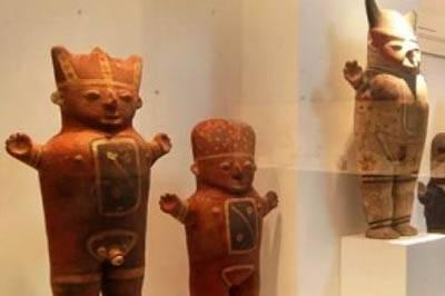 piezas arqueológicas de la cultura Chancay