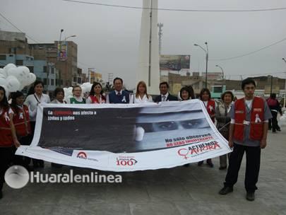 marcha no violencia contra la mujer Huaral