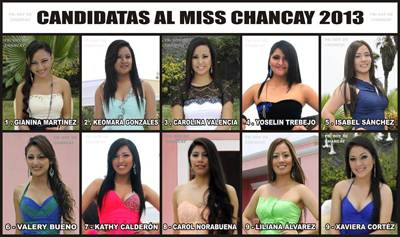 candidatas miss chancay 2013
