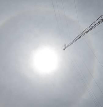 Se observa hoy un espectacular halo solar sobre el cielo de Huaral