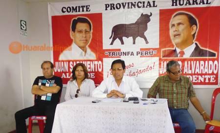 conferencia de prensa realizada por la base de Patria Joven de Huaral
