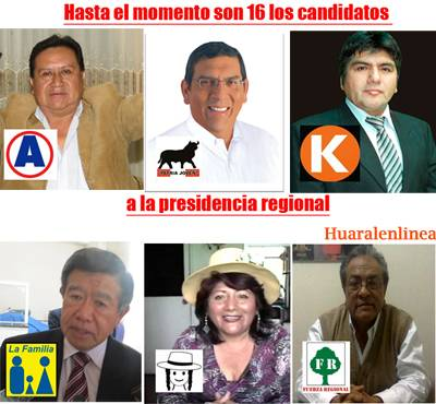 16 candidatos region lima