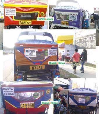 Motaxistas de Huaral protesta