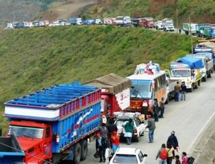 Transportistas de Pasco ya usan rutas alternas para llegar a Lima