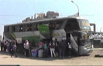 Huanuqueños quedaron varados en Huaral tras no poder pasar carretera de Acos.