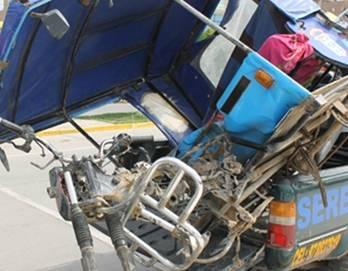Recuperan mototaxi robada totalmente desmantelada Huaralenlinea.com