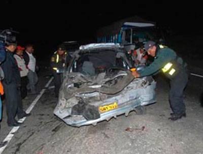Seis muertos en accidente en El Ahorcado carretera Huaral – Irrigación Santa Rosa