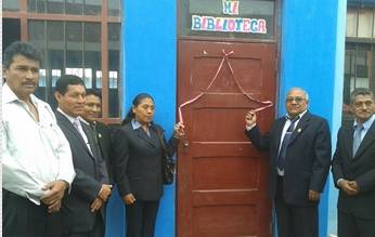 Alcalde distrital Pedro Salguero Dulanto apadrinó obras de bienestar educativo en la I.E. Jorge Basadre