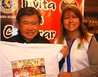 Nelson Chui llegó a Huaral para celebrar el Día de la Sopa García Huaralenlinea.com