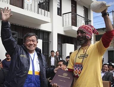 Nelson Chui recibió en Cajatambo a  El Chasqui Felipe Farela  Huaralenlinea.com