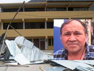 Piden apoyo para refacción de techos de calamina de la  I.E. del distrito de Acos Huaralenlinea.com