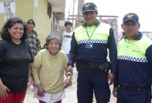 Anciana desaparecida fue hallada por personal de serenazgo de la MPH Huaralenlinea.com