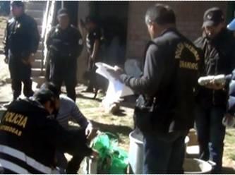 Policía halla 75 kilos de droga  en Aucallama Huaral Huaralenlinea.com