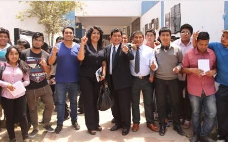 César Mazuelos dialogó con los estudiantes de ciencias agrarias huaralenlinea.com