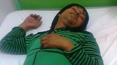Pepeado es abandonado en puerta de cabina de internet  en Huaral