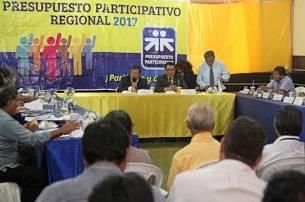 Gobierno Regional de Lima cumple con presentar cartera de Proyectos del Presupuesto Participativo 2017