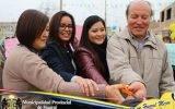 Alcaldesa Ana Kobayashi inaugura obras de pistas y veredas en Prolongación Grau