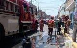 Incendio en chifa dejó dos personas heridas en Huaura