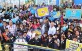Alcaldesa Ana Kobayashi fue recibida por cientos de alumnos, profesores y padres de familia en inauguración de obras