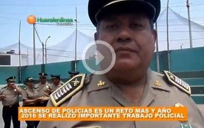 Jefe de la DIVPOL Huaral sostiene que en el 2016 se realizó un importante trabajo policial