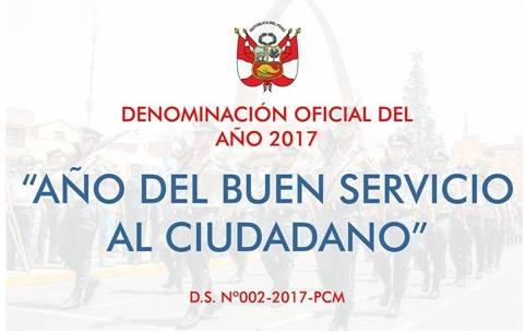 """Declaran el año 2017 como el """"Año del Buen Servicio Al Ciudadano"""""""